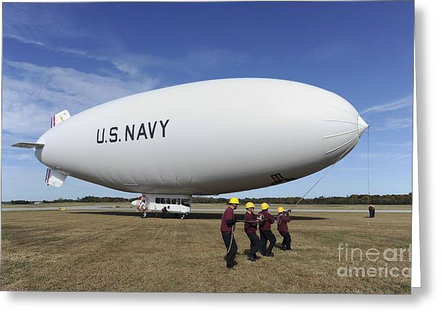 Handlers Prepare To Launch The Navys Greeting Card by Stocktrek Images