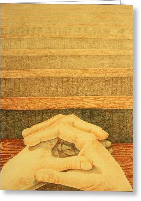 Praying Hands Paintings Greeting Cards - Hands Greeting Card by Michelle Berger