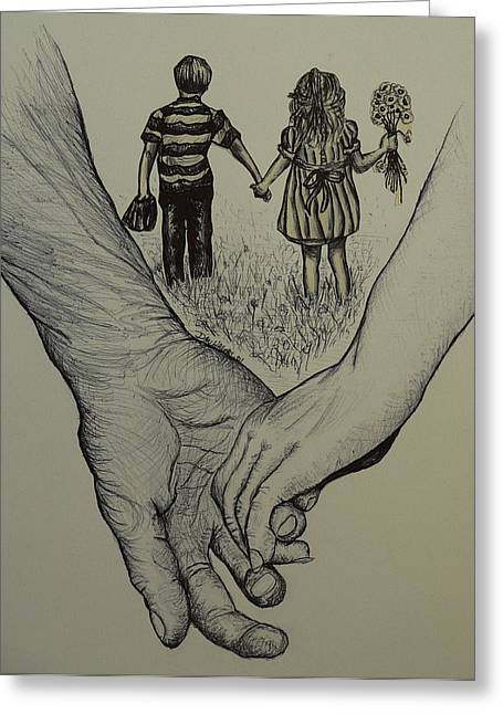 Pen Greeting Cards - Hands of time Greeting Card by Dan Wagner