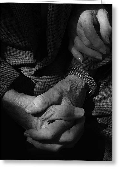 Recently Sold -  - Praying Hands Greeting Cards - Hands Of Time Greeting Card by Steven Milner