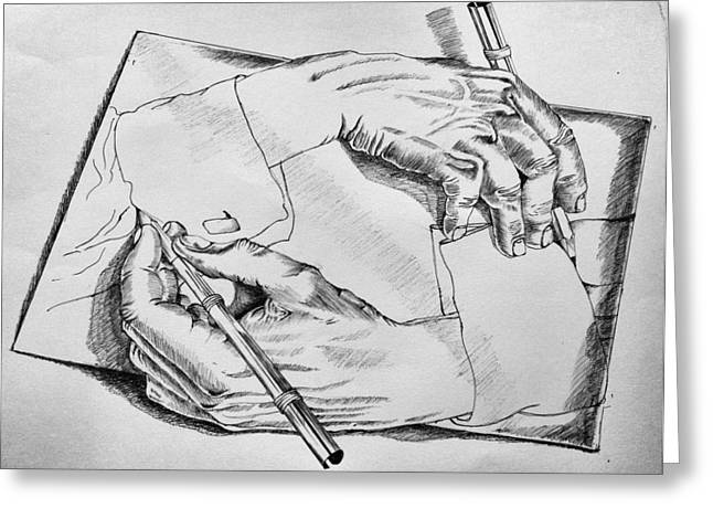 Hands Greeting Card by Sumit Jain