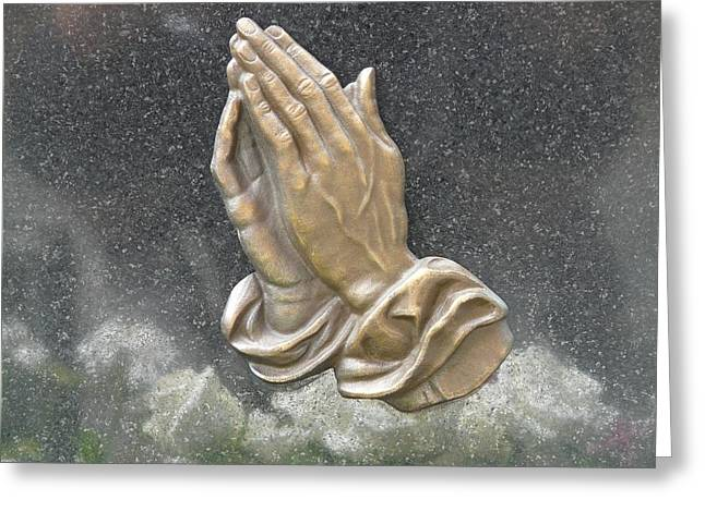 Praying Hands Greeting Cards - Hands Greeting Card by Tom Nettles