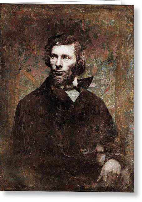 Famous People Photographs Greeting Cards - Handsome Fellow 4 Greeting Card by James W Johnson