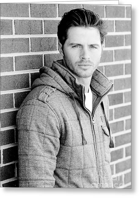 Pull Greeting Cards - Handsome Man Greeting Card by Jt PhotoDesign