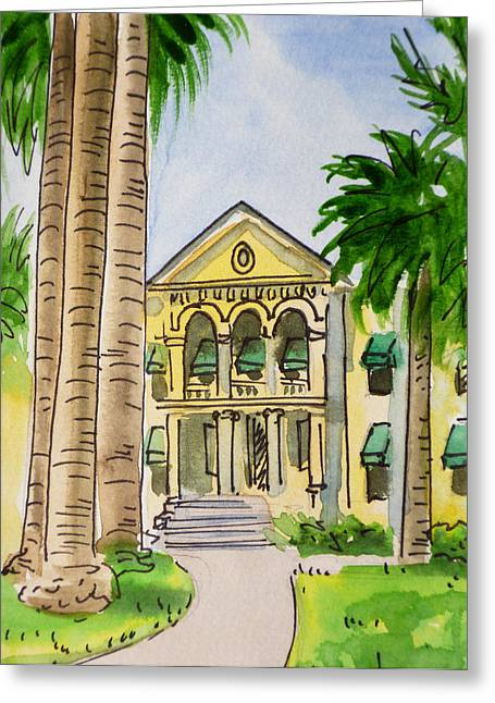 Central Greeting Cards - Hanford - California Sketchbook Project Greeting Card by Irina Sztukowski