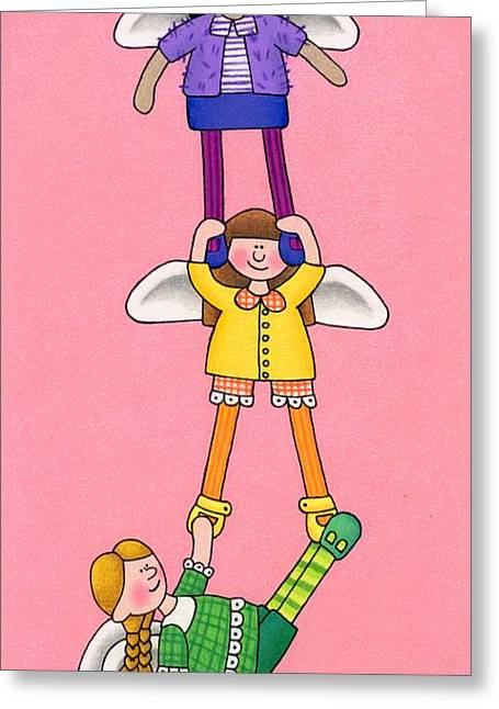 Uplifting Drawings Greeting Cards - Hang In There Greeting Card by Sarah Batalka