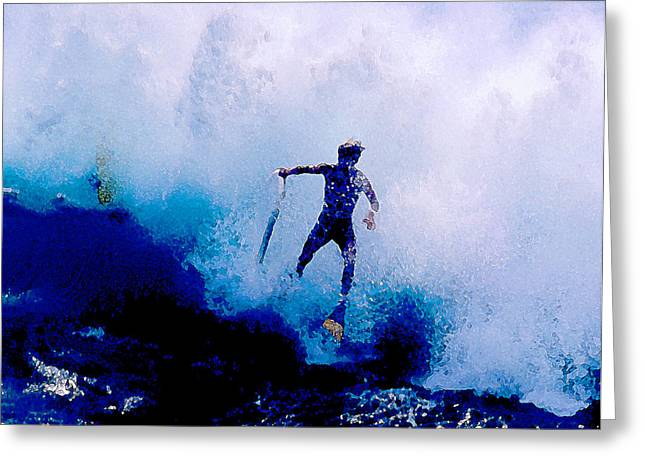 Top Surfer Greeting Cards - Hang Time Greeting Card by Ron Regalado