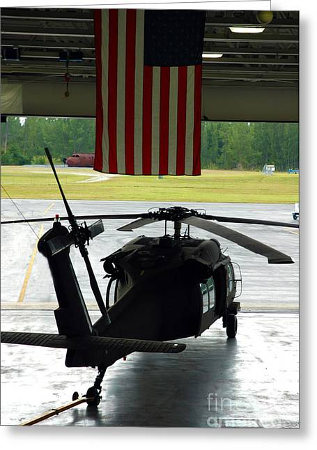 Cbp Greeting Cards - Hangared Black Hawk Greeting Card by Rick Bravo