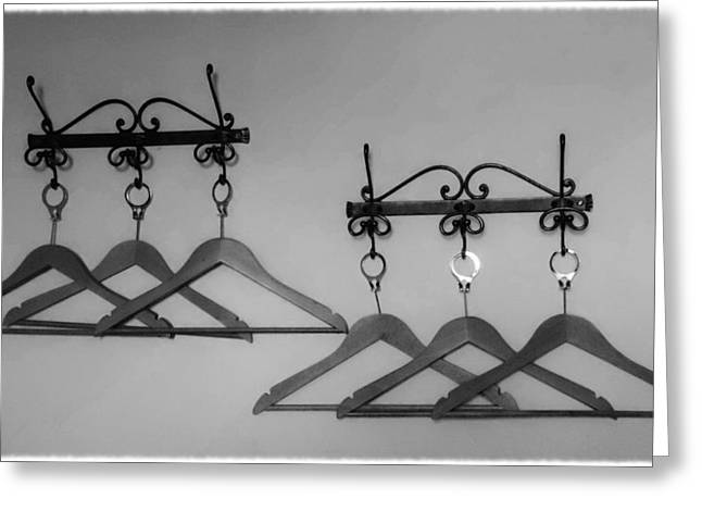 Coat Hanger Greeting Cards - Hangers Greeting Card by Dany  Lison