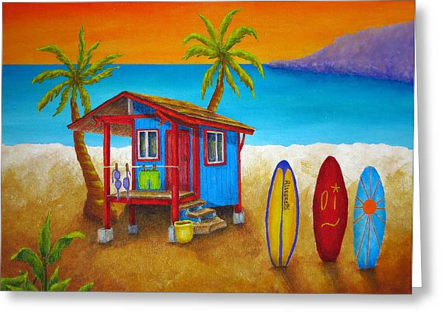 Allegretto Art Greeting Cards - Hangin Loose Greeting Card by Pamela Allegretto