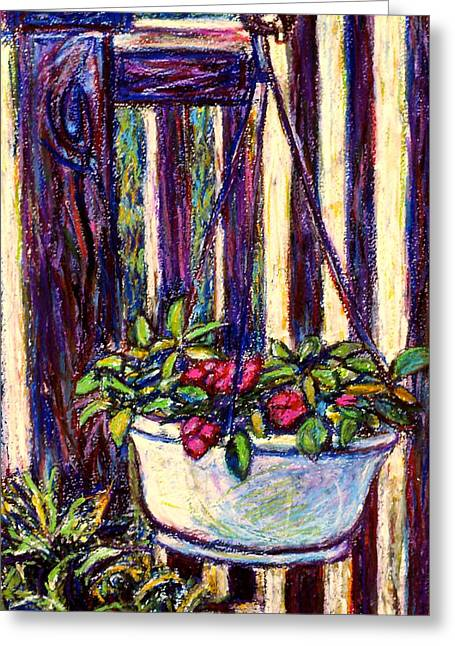 Basket Pastels Greeting Cards - Hanging Beauty Greeting Card by Kendall Kessler