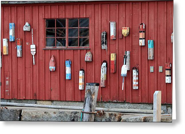 Rockport Ma Greeting Cards - Hanging Buoys Greeting Card by Peter Vogt