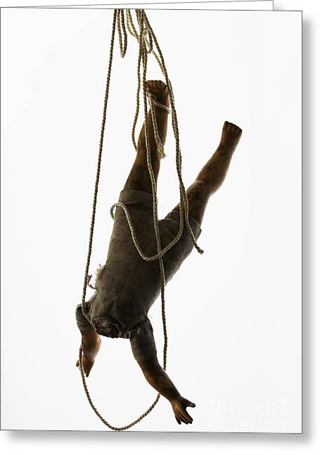 Headless Greeting Cards - Hanging by a Thread Greeting Card by Margie Hurwich