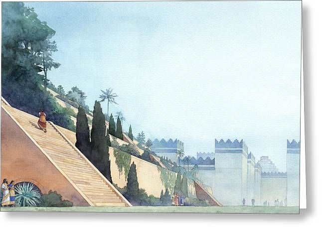 Babylonian Greeting Cards - Hanging Gardens Greeting Card by Greg Harlin