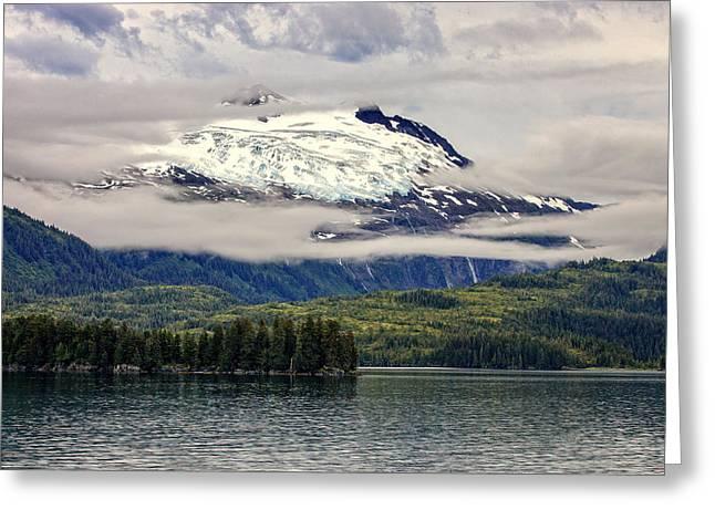 Prince William Greeting Cards - Hanging Glacier Greeting Card by Rick Berk