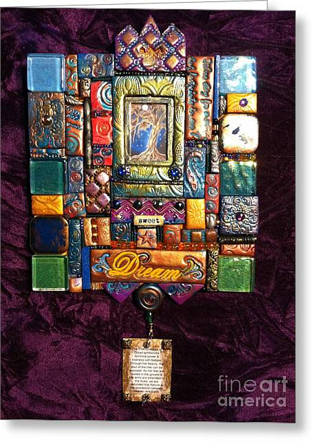 Beauty Tapestries - Textiles Greeting Cards - Hanging IDEA Greeting Card by Qasir Z Khan