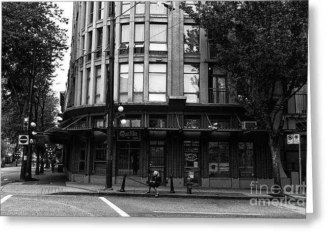 Out-building Greeting Cards - Hanging in Gastown Greeting Card by John Rizzuto