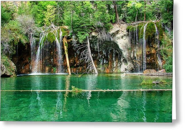 Hanging Lake 1 Greeting Card by Ken Smith