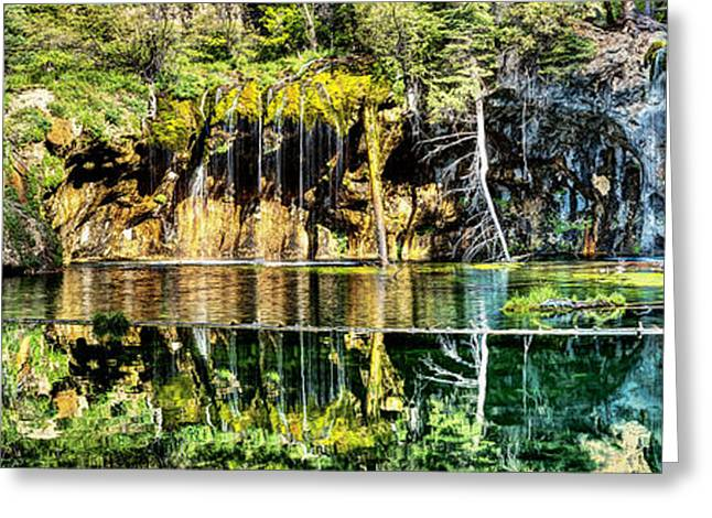 Water In Caves Greeting Cards - Hanging Lake 2 Greeting Card by OLena Art