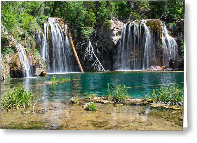 Lush Colors Greeting Cards - Hanging Lake - Colorado Greeting Card by Aaron Spong