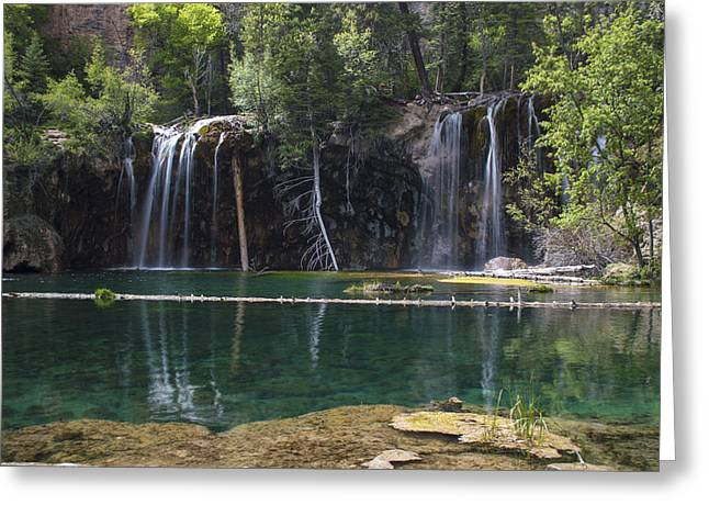 Stream Greeting Cards - Hanging Lake Greeting Card by Michael J Bauer