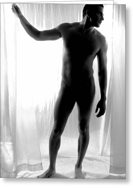 Raunchy Greeting Cards - Hanging On Greeting Card by KJ Bruce - Infinity Fusion Art