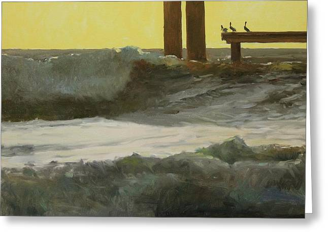 Galveston Paintings Greeting Cards - Hanging Out Greeting Card by Randall Cogburn