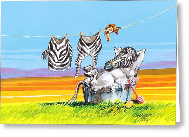 Hanging Out Greeting Card by Rose Rigden