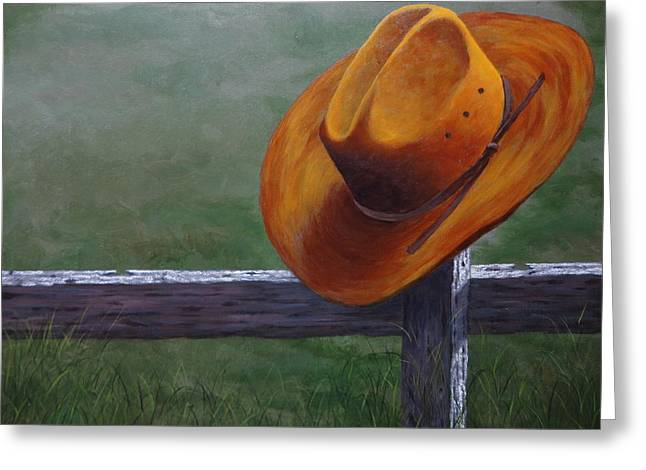 Original Cowgirl Greeting Cards - Hanging Out Greeting Card by Xochi Hughes Madera