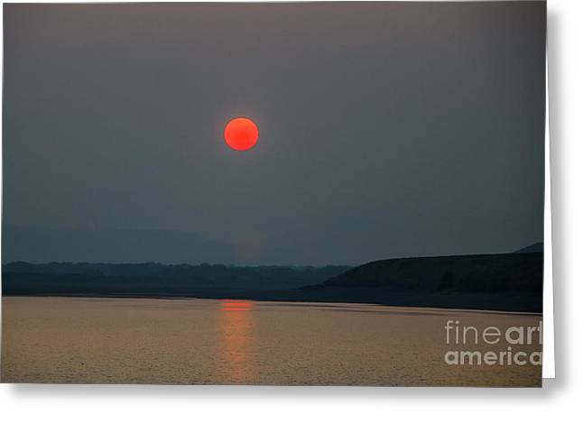 Salmon River Idaho Greeting Cards - Hanging Sun Greeting Card by Robert Bales
