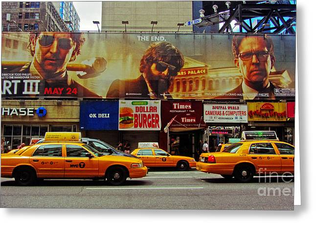 Over Hang Greeting Cards - Hangover Movie Poster in New York City Greeting Card by Nishanth Gopinathan