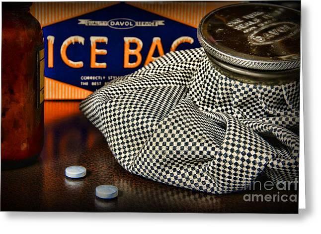 Aspirin Greeting Cards - Hangover Greeting Card by Paul Ward