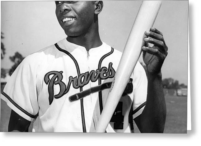 Hank Aaron Poster Greeting Card by Gianfranco Weiss