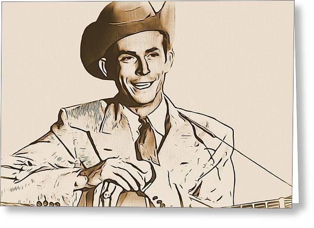 Hank Williams Greeting Card by Dan Sproul