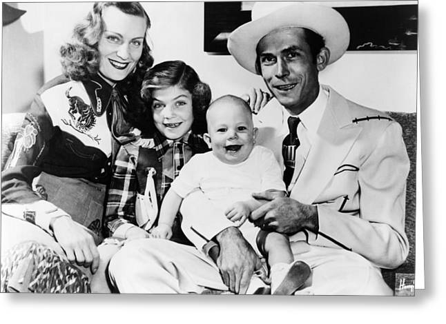 Hank Greeting Cards - Hank Williams Greeting Card by Silver Screen
