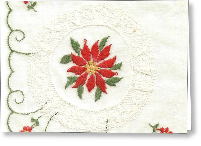 Star Of Bethlehem Greeting Cards - Hanky made in Switzerland Greeting Card by Lili Ludwick