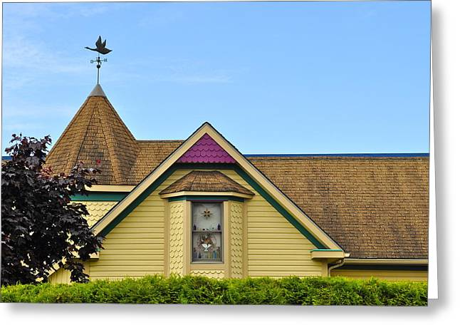 Weathervane Greeting Cards - Hanlon-Osbakken House Greeting Card by Cathy Mahnke