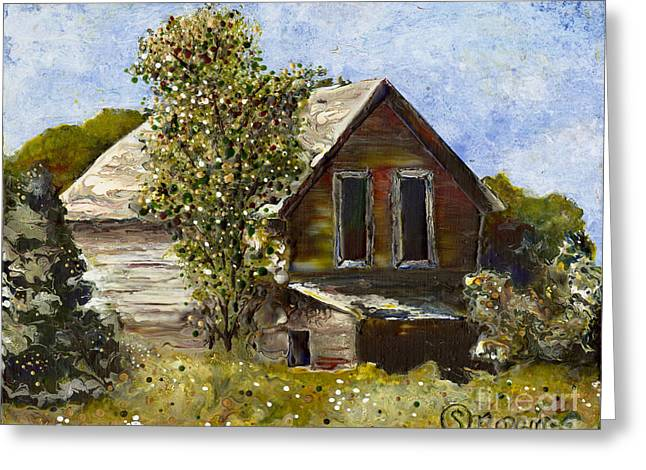 Michigan Farmhouse Greeting Cards - Hanna Home Greeting Card by Stefanie Moran