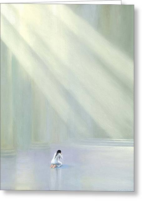Biblical Pastels Greeting Cards - Hannah II Greeting Card by James R C Martin