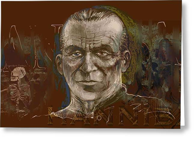 Wacom Tablet Greeting Cards - Hannibal Lecter Greeting Card by Mister Duke