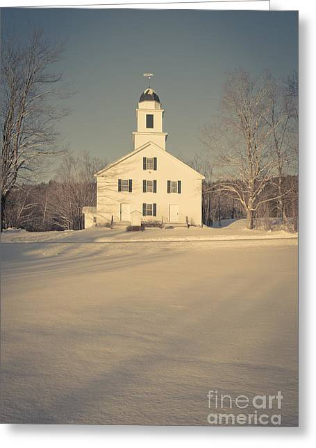 New England Morning Greeting Cards - Hanover Center Church Etna New Hampshire Greeting Card by Edward Fielding