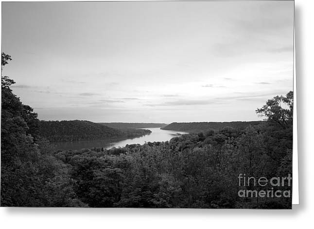 Rural Indiana Photographs Greeting Cards - Hanover College Ohio River View Greeting Card by University Icons