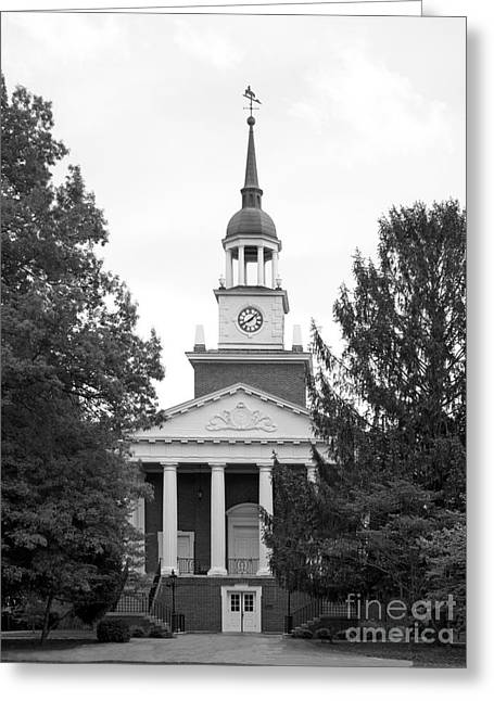 Hanover College Parker Auditorium Greeting Card by University Icons