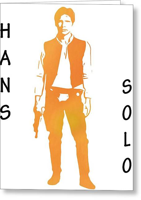 Star Alliance Greeting Cards - Hans Solo Star Wars Greeting Card by Dan Sproul