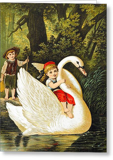 Little Boy Greeting Cards - Hansel and Gretel Greeting Card by Heinrich Leutemann