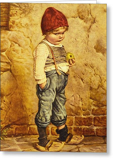 Little Boy Greeting Cards - Hansel Brothers Grimm Greeting Card by Wilhelm Kaulbach
