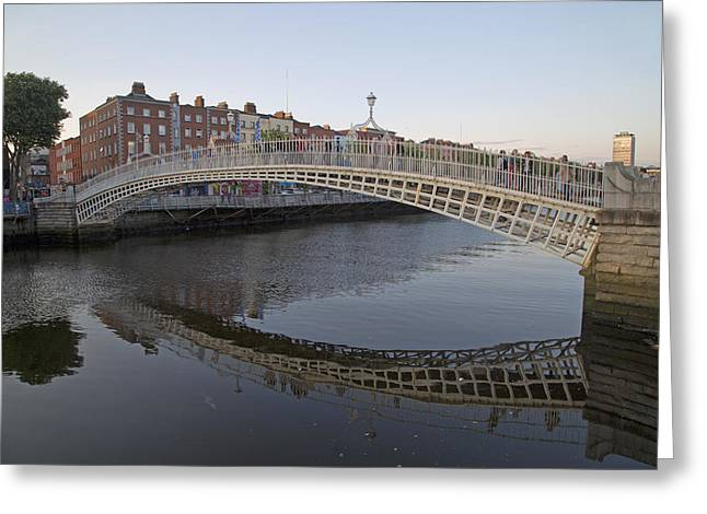 Ha'penny Bridge Dublin Ireland Greeting Card by Betsy C Knapp