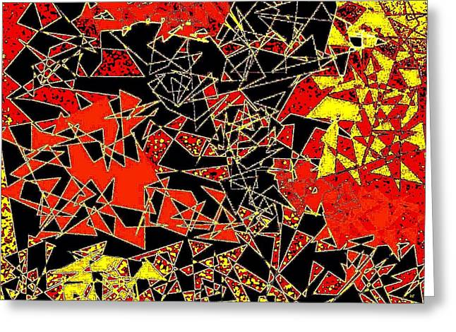 Abstract Geometric Greeting Cards - Haphazard Greeting Card by Will Borden