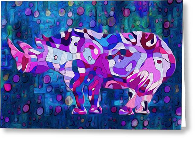 Abstracted Colorful Reality Greeting Cards - Happened At The Zoo Greeting Card by Jack Zulli