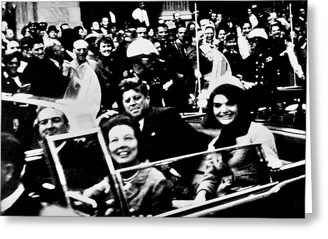 Jackie Kennedy Onassis Greeting Cards - Happier Times Greeting Card by Benjamin Yeager